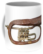 Old Broken Trumpet - Isolated Coffee Mug