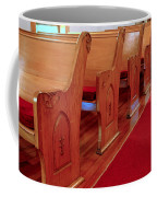 Old Church Pews Coffee Mug by LeeAnn McLaneGoetz McLaneGoetzStudioLLCcom
