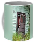 Old Door On Rustic Alaska Cabin Coffee Mug