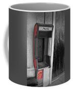Old Empty Phone Booth Coffee Mug