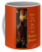 Old Fashioned Santa Christmas Card Coffee Mug by Lois Bryan
