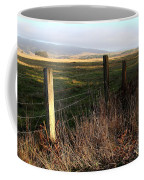 Old Fence And Landscape At Point Reyes California . 7d9968 Coffee Mug