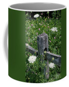 Old Fence And Wildflowers Coffee Mug