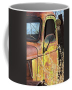 Old Green Truck Door Coffee Mug
