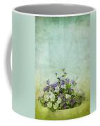 Old Grunge Paper Flowers Pattern Coffee Mug