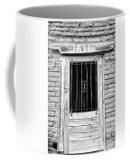 Old Jailhouse Door In Black And White Coffee Mug