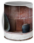 old kitchen - A part of a traditional kitchen with a vintage metal pot  Coffee Mug