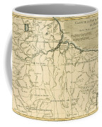 Old Map Of Northern Brazil Coffee Mug by Guillaume Raynal