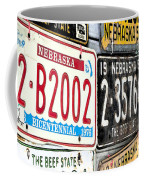 Old Nebraska Plates Coffee Mug