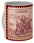 Old Nra Postage Stamp Coffee Mug