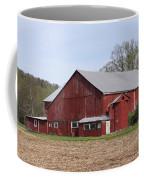 Old Red Barn With Short Silo Coffee Mug