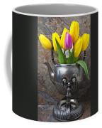 Old Tea Pot And Tulips Coffee Mug