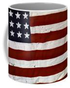 Old Usa Flag Coffee Mug by Carlos Caetano