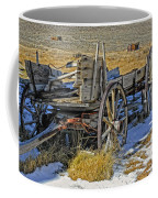 Old Wagon At Bodie Ghost Town Coffee Mug