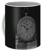 Old Westclock In Black And White Coffee Mug