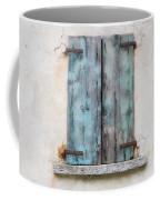 Old Window With Blue Shutte Coffee Mug