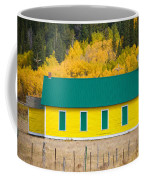 Old Yellow School House With Autumn Colors Coffee Mug