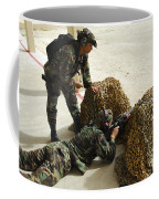 Oldier Fills In A Defensive Lining Coffee Mug