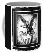 On Eagles Wings Bw Coffee Mug
