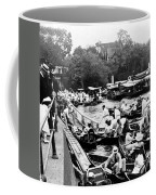 On The River Thames - Waiting For The Locks To Open - C 1902 Coffee Mug