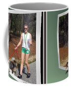 On The Trail - Gently Cross Your Eyes And Focus On The Middle Image That Appears Coffee Mug