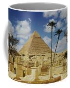 One Of The Pyramids Seen Behind An Arab Coffee Mug