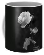 One Rose In Black And White Coffee Mug