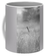 One Tall Blade Of Grass On A Foggy Morn - Bw Coffee Mug
