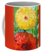 One Yellow One Red And Orange Flower Shines Coffee Mug
