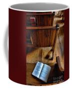 Open Book On Church Pew Coffee Mug