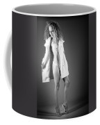 Open Coat In Bw Coffee Mug