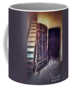 Open Door By Staircase Coffee Mug
