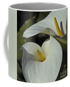 Open White Calla Lily Coffee Mug