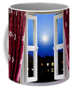 Open Window At Night Coffee Mug