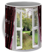 Open Window To A Church Garden Coffee Mug
