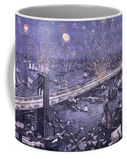 Opening Of The Great New York And Brooklyn Bridge And Grand Display Of Fire Works Coffee Mug