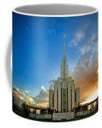 Oquirrh Mtn Temple Setting Sun Coffee Mug
