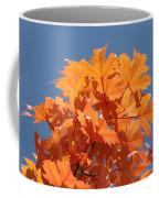 Orange Autumn Leaves Art Prints Blue Sky Coffee Mug