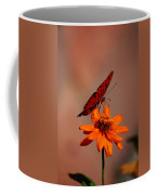 Orange Butterfly Orange Flower Coffee Mug