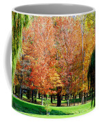 Orange Colored Trees Coffee Mug