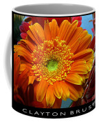 Orange Floral Coffee Mug