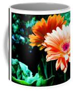 Orange Gerber Daisies Coffee Mug