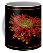 Orange Gerbera Daisy With Chrome Effect Coffee Mug
