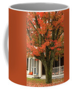 Orange Leaves And Pumpkins Coffee Mug