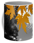Orange Maple Leaves Coffee Mug