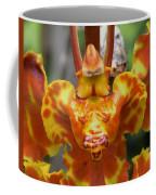 Orange Orchid Clown Coffee Mug