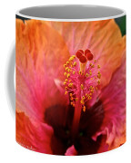 Orange Sherbert Hibiscus Coffee Mug