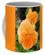 Orange Sickle Pansies Coffee Mug