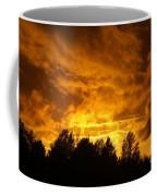 Orange Stormy Skies Coffee Mug
