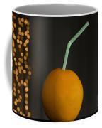 Orange With Straw Coffee Mug